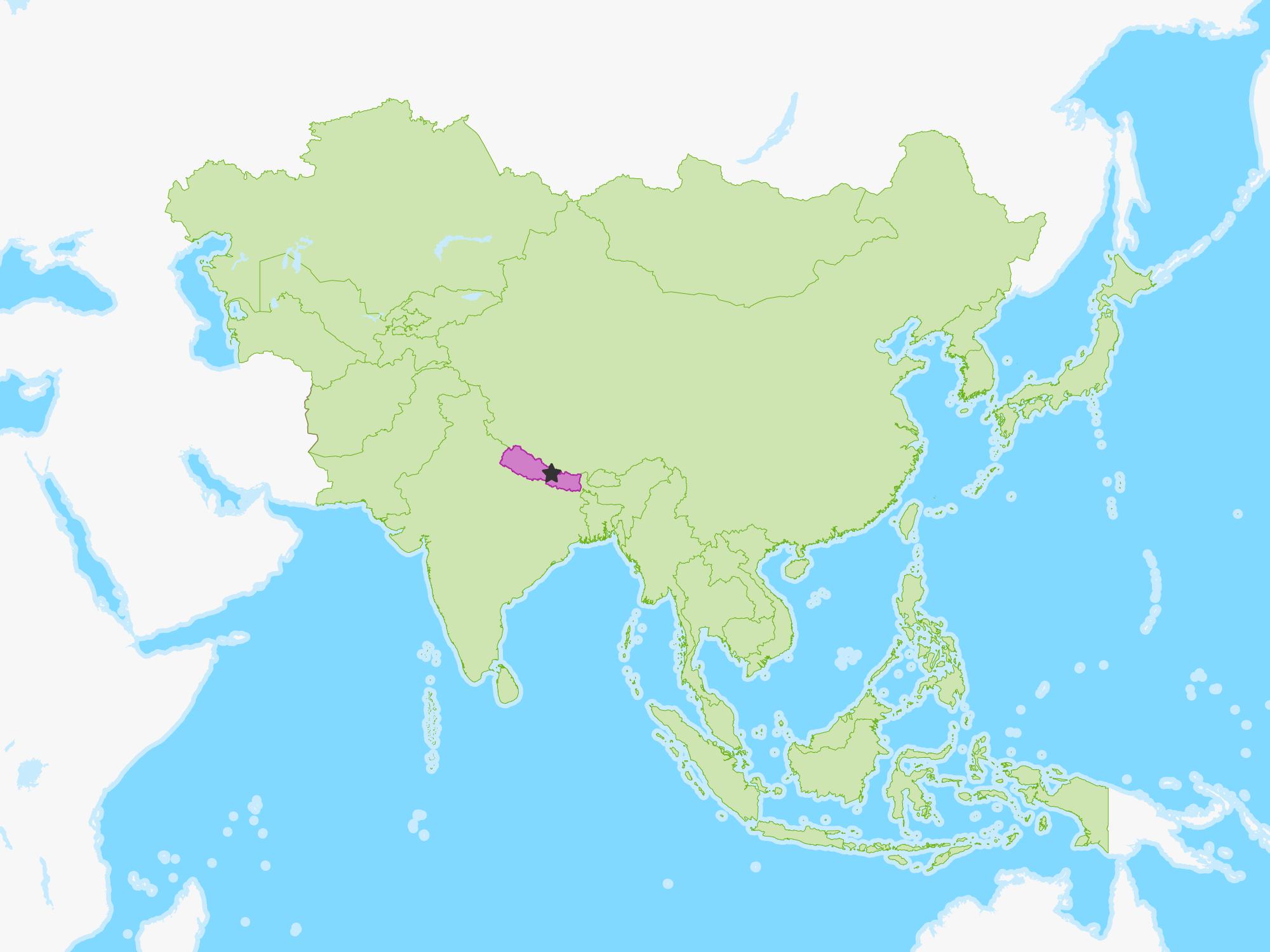 Image of: Nepal Free Study Maps